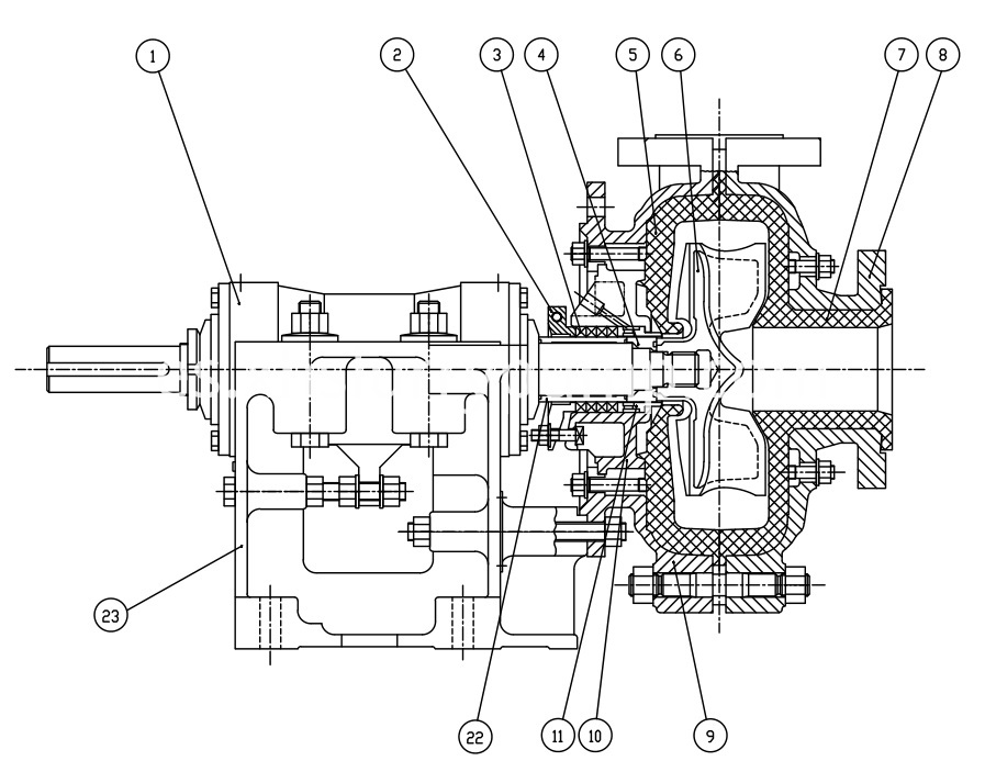 AHR Pump Construction Description
