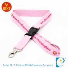 Promotional Flat Polyester Printed Lanyard with Plastic Buckle at Factory Price