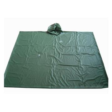 Mens Green Pvc Poncho