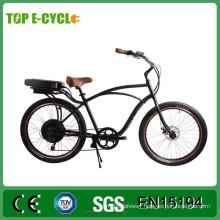 TOP 36v 250w 26inch mans beach cruiser electric bike 2017