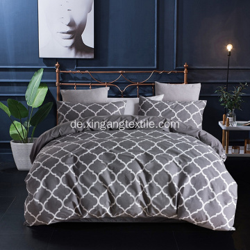 UK King Size bedruckte Bettdecke Bettbezug Set