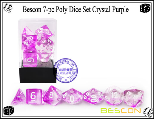 Crystal Purple Dice Set-4
