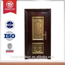 Mais recente segurança de design porta de aço porta de entrada mian porta de design na porta Escolha do fornecedor