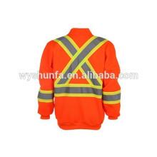 CSA Z96-09 reflective sweatshirts polyester fleece front big kangaroo pocket high performance fabric