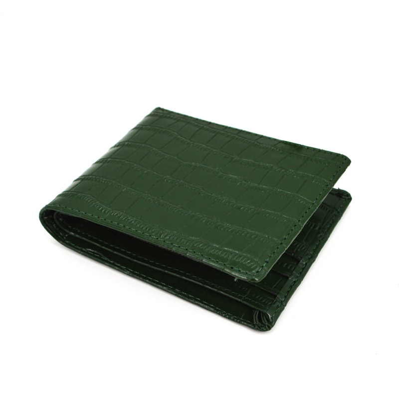 New Durable Genuine Crocodile Leather Men's Bifold Wallet