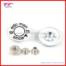 Bouton de fermeture à glissière en métal