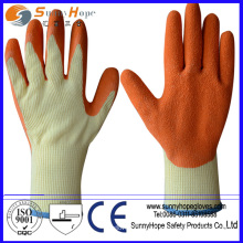 Luva de algodão revestida de palma natural