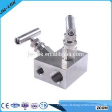 Collecteurs d'instruments de pression d'eau en acier inoxydable