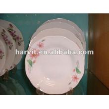 2015 Hot Sale Plaque de soupe en porcelaine / plaque en céramique avec décalque en fleur