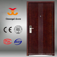última puerta de entrada de madera de la casa de diseño