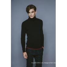 100% Cachemira Otoño y Invierno Jersey de cuello alto Hombres Knitwear