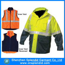 Bausicherheit Hi Vis 3 in 1 Jacken für Männer