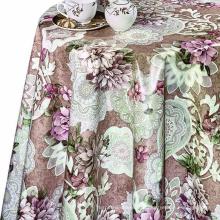 Весенняя цветочная пвх-виниловая скатерть