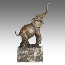 Tierstatue Elefant Dekoration Bronze Skulptur Tpal-273
