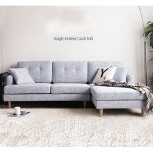 Современный и простой гостиная с угловой диван