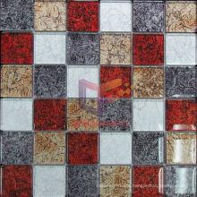 Gold Leaf Crystal Mosaic Glass Mosaic Tile (GF251)