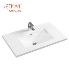 inodoro de cerámica blanca lavabo de comedor de mano