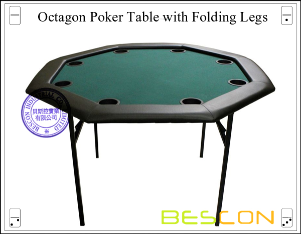 48 inch Octagon Poker Table with Folding Legs-2