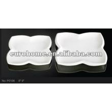 Porcelana de cerámica que sirve platos flor forma eurohome marca P0106