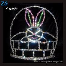 Цветная крона Pageant Хэллоуин Tiara Для детей, кристалл пасхальный кроны