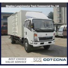 Серия sinotruck HOWO перевозит 4х2 легкий грузовой автомобиль фургон 5 тонн