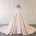 Robe de mariée de haute qualité à manches courtes robe de mariée