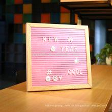 Eiche Frame Filz Brief Board 10 x 10 360 veränderbare Buchstaben