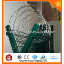Hot dip galvanized razor barbed wire for airport fence