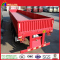High Flat Bed Side Wall Flatbed Cargo Box Semi Trailer