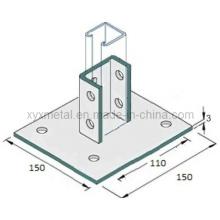 Kundenspezifische Stahlprofil Schlitzstrebe Kanalsockel