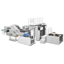 Машина для производства бумажных пакетов с плоскими веревками