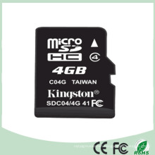Mobile Memory Card 4GB TF Cards with 100% Full Capacity (SD-04)