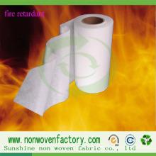 Tecido não tecido retardador de chamas de polipropileno Spunbond