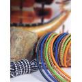 Corde élastique décorative colorée de polyester de vente en gros de l'usine 20m