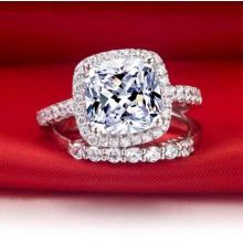 Estrela Brilhante Cores Brancas Moda Artificial Diamante Anel Jóias