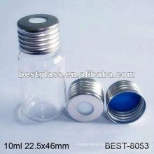10ml screw headspace vial with aluminium cap,clear headspace vial with aluminium cap