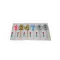 Gold Metallic Birthday Candles Numbers