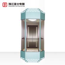 Top Quality Fuji Brand circular round sightseeing elevator 6 people lift circular elevators