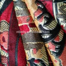 Tela estampada estilo pavo para textiles para el hogar