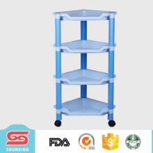 Armazenamento de artigos domésticos de Guangdong 4-layer rack de cozinha de plástico para venda