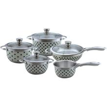 Dot lukisan set alat masak 9pcs