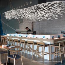 Modern sushi aquarium Fish Shaped Decorative Chandelier