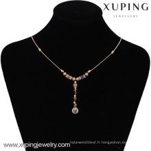 42495 -Xuping Hotsale style spécial collier bijoux plaqué or 18 carats