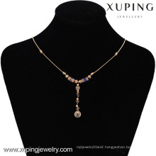 42495 -Xuping Hotsale Special Style Necklace Jewelry 18K Gold Plated