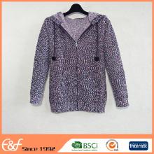 Cárdigan del suéter de la sudadera con capucha del hilado de lujo de las nuevas mujeres de la llegada