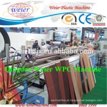 Extrusora de parafuso duplo cônico para fazer PE WPC decking do perfil com CE