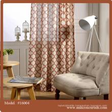 2 Piece Curtain printed Woven Lattice Jacquard Curtain Blackout Insulated Elegant Modern