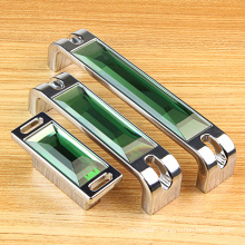 "B Style Green 5.5"" 128mm Crystal Hardware Room Handles"