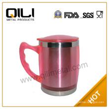 matt finish stocked mug double wall plastic tumbler with handle 16oz