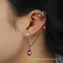 Jewelry Earring Crystal Flower Ear Cuff Individual Vintage Ear Clip EC28